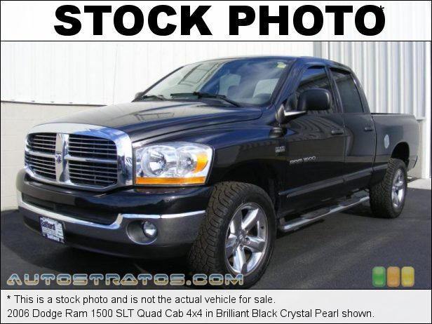 Stock photo for this 2006 Dodge Ram 1500 ST Quad Cab 4x4 5.7 Liter HEMI OHV 16-Valve V8 5 Speed Automatic