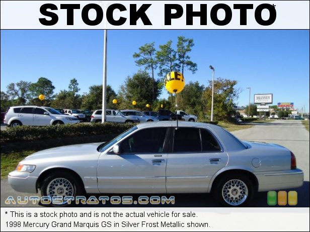 Stock photo for this 1998 Mercury Grand Marquis GS 4.6 Liter SOHC 16-Valve V8 4 Speed Automatic