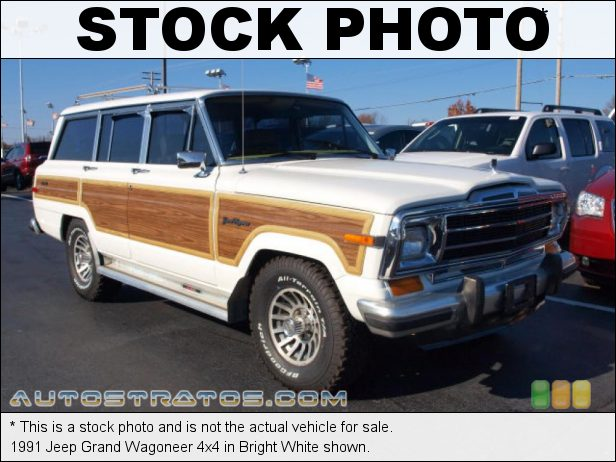 Stock photo for this 1990 Jeep Grand Wagoneer 4x4 5.9 Liter OHV 16-Valve V8 3 Speed Automatic