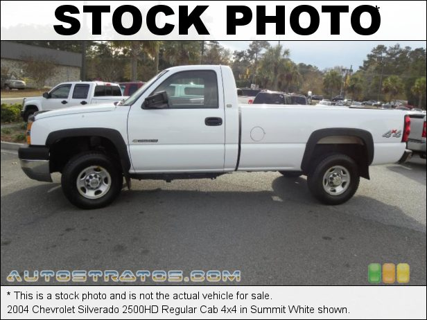 Stock photo for this 2004 Chevrolet Silverado 2500HD Regular Cab 4x4 6.0 Liter OHV 16-Valve Vortec V8 4 Speed Automatic
