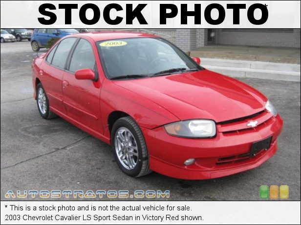 Stock photo for this 2003 Chevrolet Cavalier LS Sport Sedan 2.2 Liter DOHC 16 Valve 4 Cylinder 4 Speed Automatic