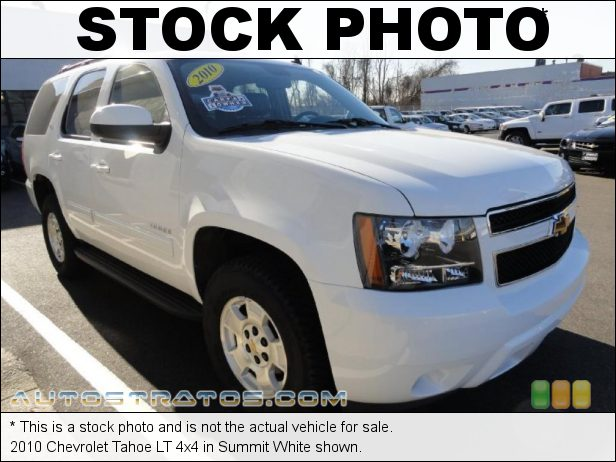 Stock photo for this 2010 Chevrolet Tahoe LT 4x4 5.3 Liter OHV 16-Valve Flex-Fuel Vortec V8 6 Speed Automatic