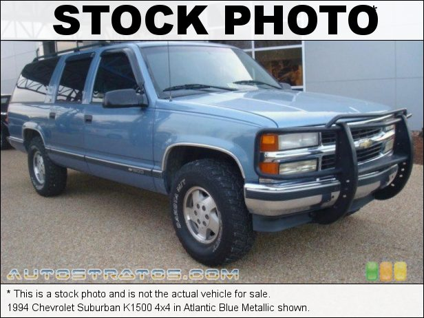 Stock photo for this 1994 Chevrolet Suburban K1500 4x4 5.7 Liter OHV 16-Valve V8 4 Speed Automatic