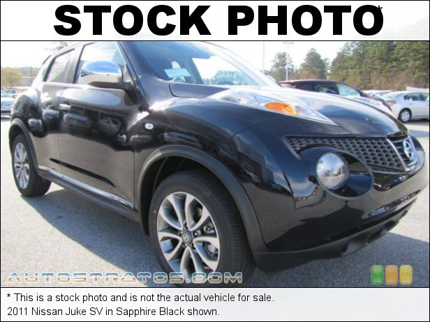 Stock photo for this 2011 Nissan Juke SV 1.6 Liter DIG Turbocharged DOHC 16-Valve 4 Cylinder 6 Speed Manual