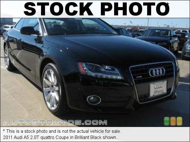 Stock photo for this 2011 Audi A5 2.0T quattro Coupe 2.0 Liter FSI Turbocharged DOHC 16-Valve VVT 4 Cylinder 8 Speed Tiptronic Automatic
