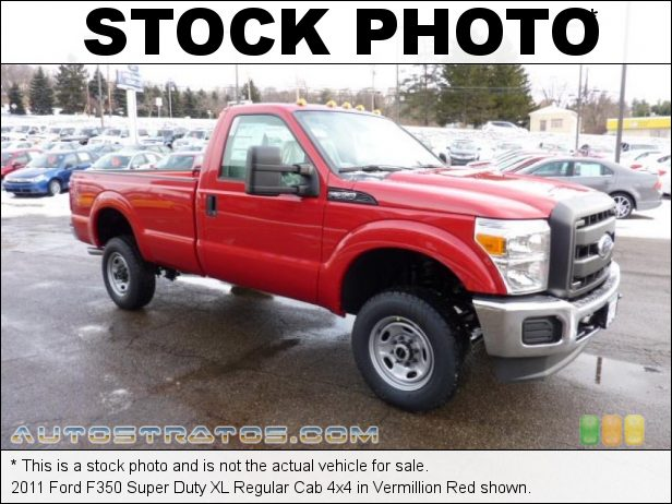 Stock photo for this 2011 Ford F350 Super Duty XLT Regular Cab 4x4 6.2 Liter SOHC 16-Valve V8 6 Speed TorqShift Automatic