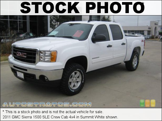 Stock photo for this 2011 GMC Sierra 1500 SLE Crew Cab 4x4 5.3 Liter Flex-Fuel OHV 16-Valve VVT Vortec V8 6 Speed Automatic