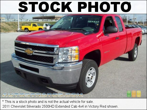 Stock photo for this 2011 Chevrolet Silverado 2500HD Extended Cab 4x4 6.0 Liter OHV 16-Valve VVT Vortec V8 6 Speed Automatic