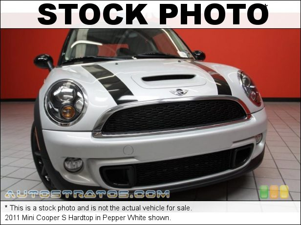 Stock photo for this 2011 Mini Cooper S Hardtop 1.6 Liter Twin-Scroll Turbocharged DI DOHC 16-Valve VVT 4 Cylind 6 Speed Manual