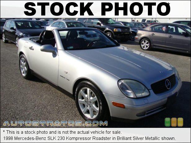 Stock photo for this 1998 Mercedes-Benz SLK 230 Kompressor Roadster 2.3L Supercharged DOHC 16V 4 Cylinder 5 Speed Automatic