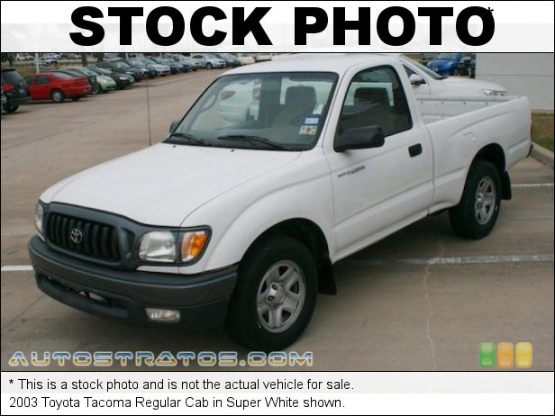 Stock photo for this 2003 Toyota Tacoma Regular Cab 2.4 Liter DOHC 16-Valve 4 Cylinder 5 Speed Manual