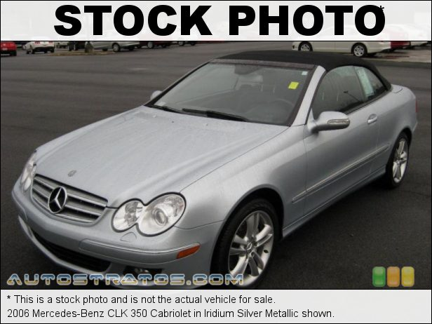 Stock photo for this 2006 Mercedes-Benz CLK 350 Cabriolet 3.5 Liter DOHC 24-Valve VVT V6 7 Speed Automatic