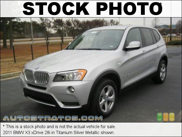 Stock photo for this 2011 BMW X3 xDrive 28i 3.0 Liter DOHC 24-Valve VVT Inline 6 Cylinder 8 Speed Steptronic Automatic