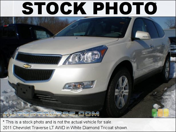 Stock photo for this 2012 Chevrolet Traverse LT AWD 3.6 Liter DI DOHC 24-Valve VVT V6 6 Speed Automatic