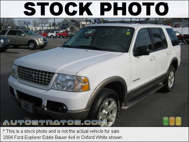 Stock photo for this 2004 Ford Explorer Eddie Bauer 4x4 4.0 Liter SOHC 12-Valve V6 5 Speed Automatic