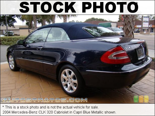 Stock photo for this 2004 Mercedes-Benz CLK 320 Cabriolet 3.2 Liter SOHC 18-Valve V6 5 Speed Automatic