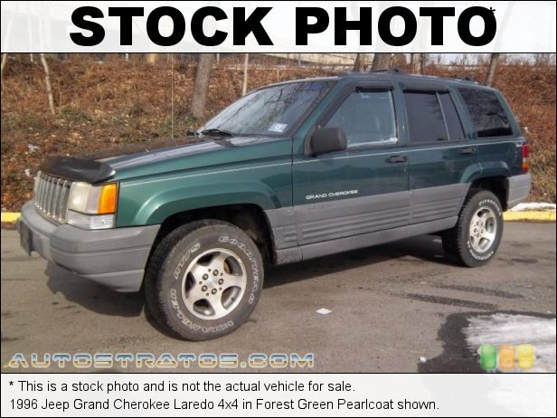 Stock photo for this 1996 Jeep Grand Cherokee Laredo 4x4 4.0 Liter OHV 12-Valve Inline 6 Cylinder 4 Speed Automatic