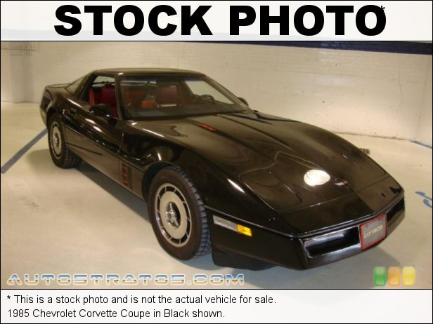 Stock photo for this 1985 Chevrolet Corvette Coupe 5.7 Liter OHV 16-Valve L98 V8 4 Speed Automatic
