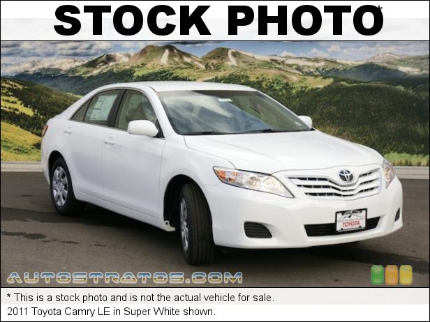 Stock photo for this 2011 Toyota Camry LE 2.5 Liter DOHC 16-Valve Dual VVT-i 4 Cylinder 6 Speed ECT-i Automatic
