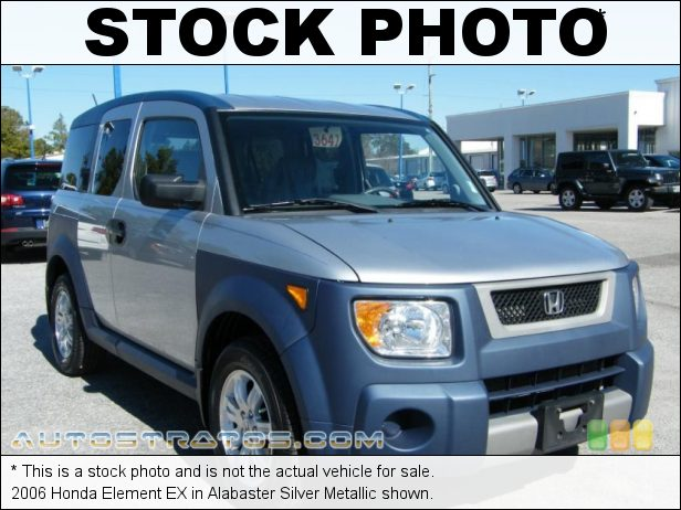 Stock photo for this 2006 Honda Element EX 2.4L DOHC 16V i-VTEC 4 Cylinder 4 Speed Automatic