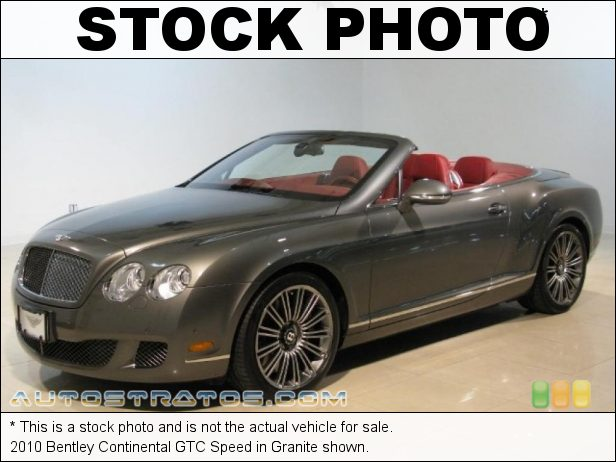 Stock photo for this 2010 Bentley Continental GTC Speed 6.0 Liter Twin-Turbocharged DOHC 48-Valve VVT W12 6 Speed Automatic