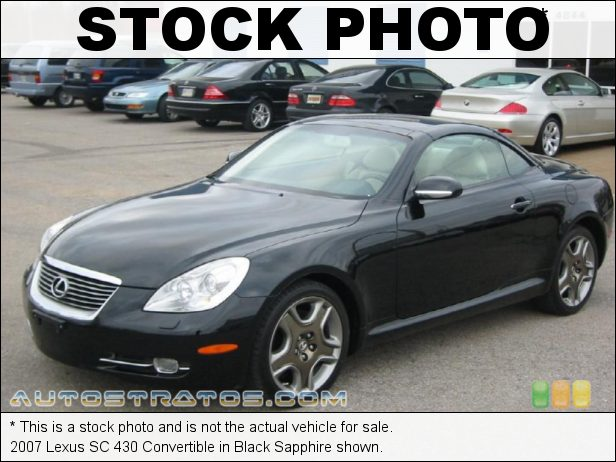 Stock photo for this 2007 Lexus SC 430 4.3 Liter DOHC 32-Valve VVT-i V8 6 Speed Automatic