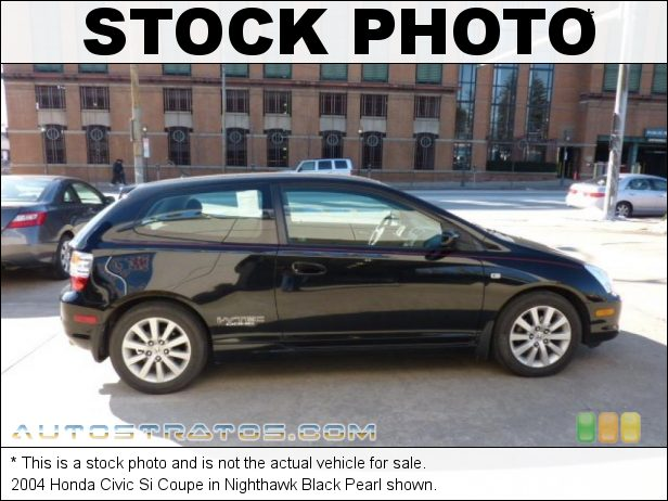 Stock photo for this 2004 Honda Civic Si Coupe 2.0 Liter DOHC 16-Valve i-VTEC 4 Cylinder 5 Speed Manual