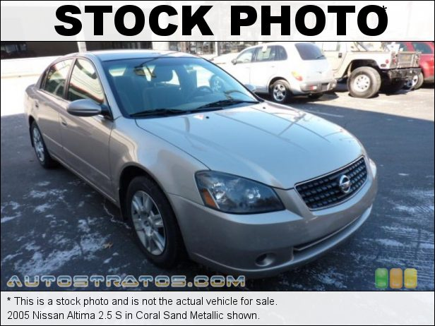 Stock photo for this 2005 Nissan Altima 2.5 S 2.5 Liter DOHC 16V CVTC 4 Cylinder 4 Speed Automatic