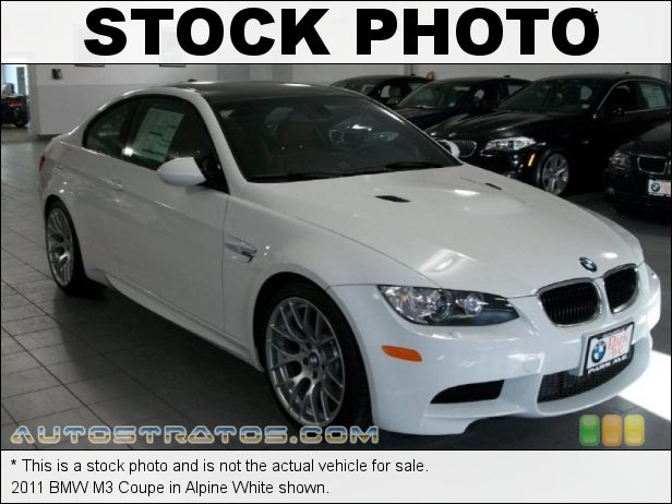 Stock photo for this 2011 BMW M3 Coupe 4.0 Liter M DOHC 32-Valve VVT V8 6 Speed Manual