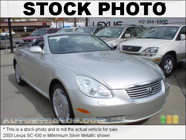 Stock photo for this 2003 Lexus SC 430 4.3 Liter DOHC 32 Valve VVT-i V8 5 Speed Automatic