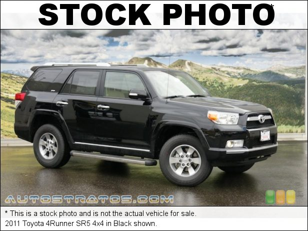 Stock photo for this 2011 Toyota 4Runner SR5 4x4 4.0 Liter DOHC 24-Valve Dual VVT-i V6 5 Speed ECT-i Automatic