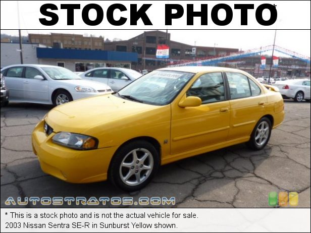 Stock photo for this 2003 Nissan Sentra SE-R 2.5 Liter DOHC 16-Valve CVTC 4 Cylinder 4 Speed Automatic