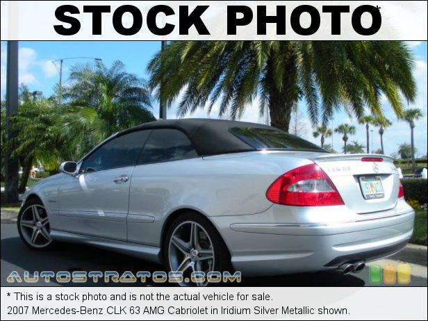 Stock photo for this 2007 Mercedes-Benz CLK 63 AMG Cabriolet 6.2 Liter AMG DOHC 32-Valve VVT V8 7 Speed Automatic