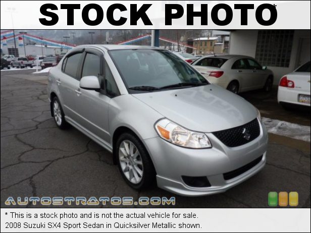 Stock photo for this 2008 Suzuki SX4 Sport Sedan 2.0 Liter DOHC 16 Valve 4 Cylinder 5 Speed Manual