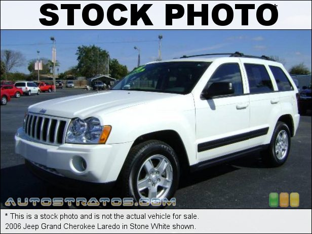 Stock photo for this 2006 Jeep Grand Cherokee Laredo 3.7 Liter SOHC 12-Valve Powertech V6 5 Speed Automatic
