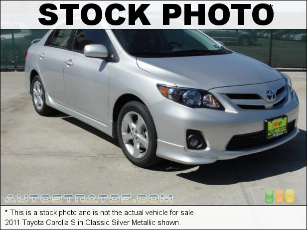 Stock photo for this 2011 Toyota Corolla  1.8 Liter DOHC 16-Valve Dual-VVTi 4 Cylinder 4 Speed ECT-i Automatic