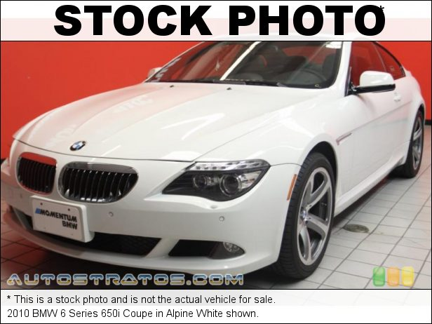 Stock photo for this 2010 BMW 6 Series 650i Coupe 4.8 Liter DOHC 32-Valve Double-VANOS VVT V8 6 Speed Sport Automatic