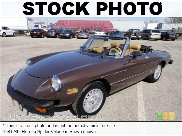 Stock photo for this 1986 Alfa Romeo Spider Veloce 2.0 Liter DOHC 8-Valve 4 Cylinder 5 Speed Manual