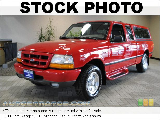 Stock photo for this 1999 Ford Ranger XLT Extended Cab 3.0 Liter Flex Fuel OHV 12-Valve V6 4 Speed Automatic