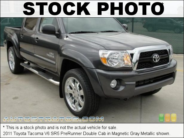Stock photo for this 2011 Toyota Tacoma PreRunner Double Cab 4.0 Liter DOHC 24-Valve VVT-i V6 5 Speed Automatic