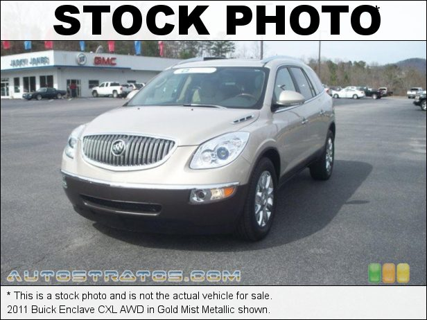 Stock photo for this 2011 Buick Enclave CXL AWD 3.6 Liter DFI DOHC 24-Valve VVT V6 6 Speed Automatic