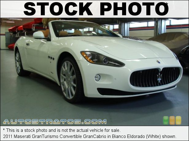 Stock photo for this 2011 Maserati GranTurismo Convertible GranCabrio 4.7 Liter DOHC 32-Valve VVT V8 6 Speed ZF Paddle-Shift Automatic