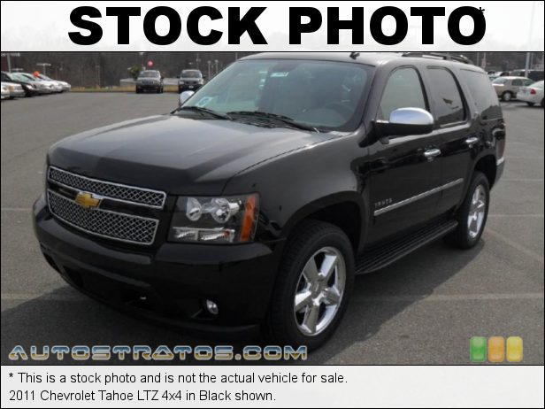 Stock photo for this 2011 Chevrolet Tahoe LTZ 4x4 5.3 Liter Flex-Fuel OHV 16-Valve VVT Vortec V8 6 Speed Automatic