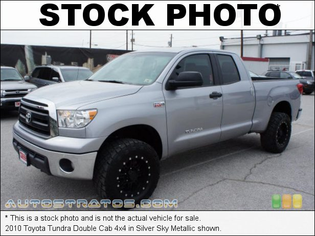 Stock photo for this 2010 Toyota Tundra Double Cab 4x4 5.7 Liter i-Force Flex-Fuel DOHC 32-Valve Dual VVT-i V8 6 Speed ECT-i Automatic
