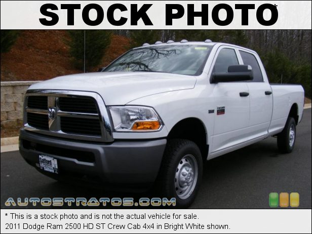 Stock photo for this 2011 Dodge Ram 2500 HD Crew Cab 4x4 5.7 Liter HEMI OHV 16-Valve VVT V8 5 Speed Automatic