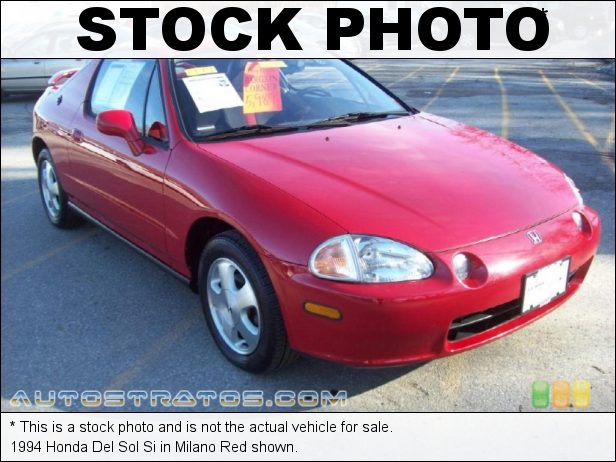 Stock photo for this 1993 Honda Del Sol Si 1.6 Liter SOHC 16-Valve 4 Cylinder 4 Speed Automatic