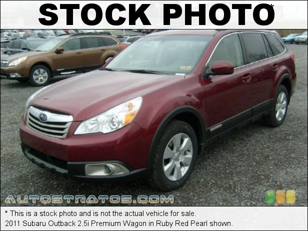 Stock photo for this 2011 Subaru Outback 2.5i Premium Wagon 2.5 Liter SOHC 16-Valve VVT Flat 4 Cylinder Lineartronic CVT Automatic