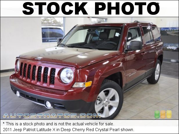 Stock photo for this 2011 Jeep Patriot Latitude X 2.4 Liter DOHC 16-Valve VVT 4 Cylinder CVT2 AutoStick Automatic