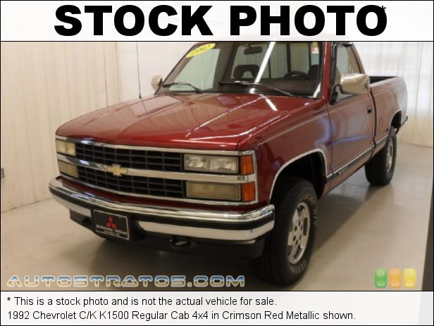 Stock photo for this 1992 Chevrolet C/K K1500 Regular Cab 4x4 4.3 Liter OHV 12-Valve V6 4 Speed Automatic