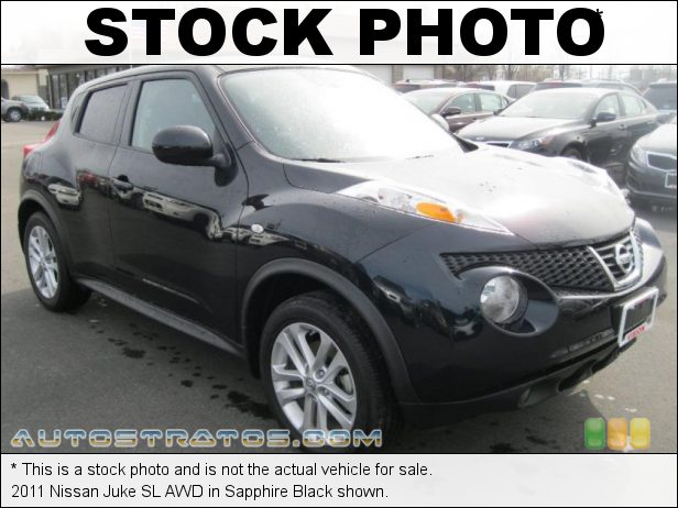 Stock photo for this 2011 Nissan Juke AWD 1.6 Liter DIG Turbocharged DOHC 16-Valve 4 Cylinder Xtronic CVT Automatic